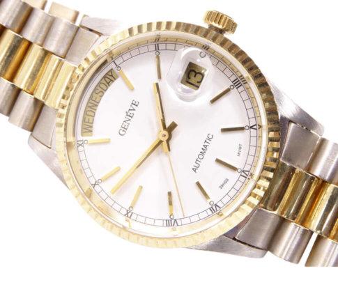 14 karaat bicolor Geneve horloge