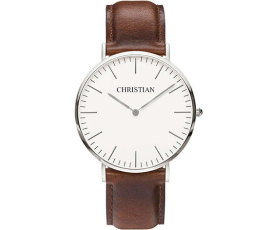 Christian Silver White Classic Amber