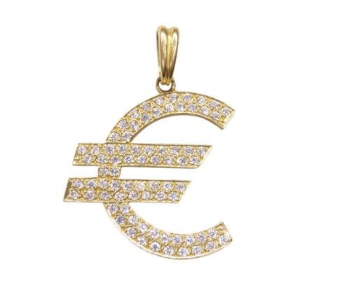Euro hanger met zirkonia