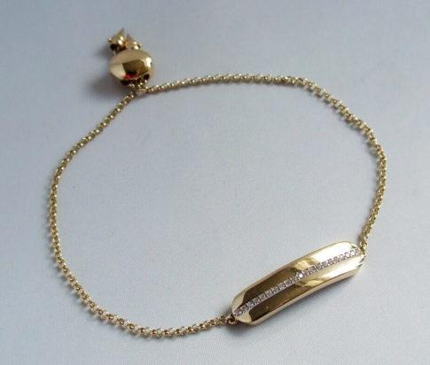 Geel gouden armband met zirkonia