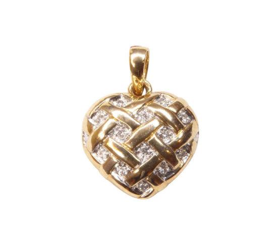 Gouden hart hanger