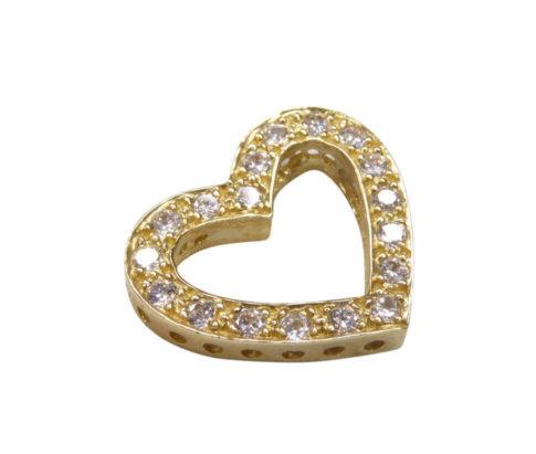 Geel gouden hart hanger