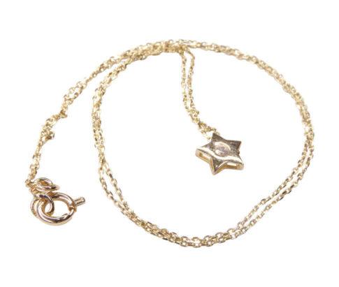 Bicolor gouden hanger met zirkonia ster