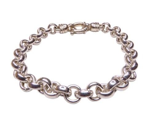 Christian zilveren armband met losse schakels