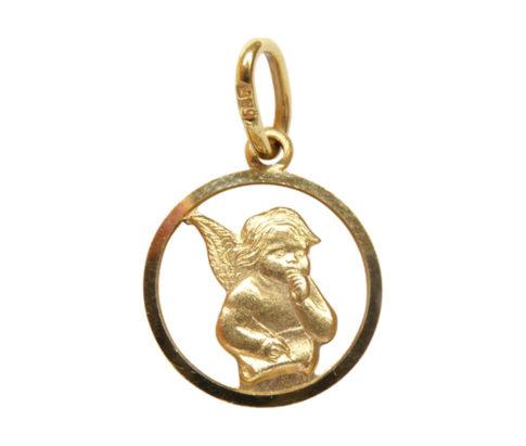 Geel gouden engel hanger