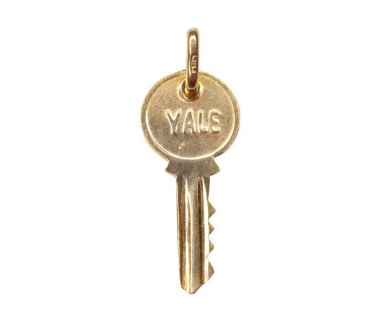 Geel gouden sleutel hanger