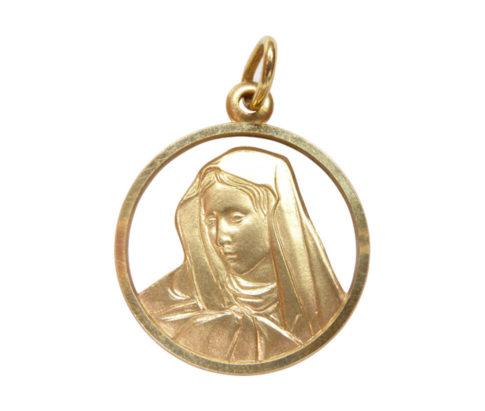 Gouden Maria hanger