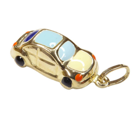 Gouden emaille auto hanger