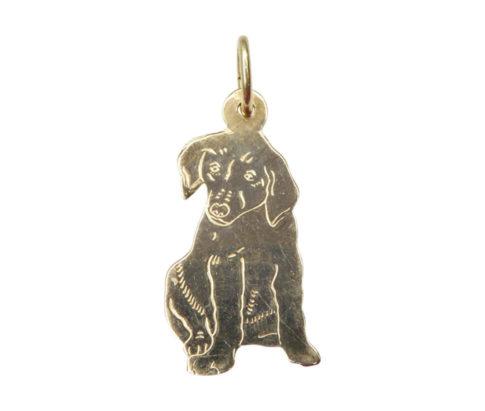 Gouden hond hanger