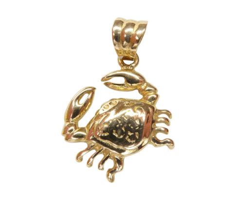 Gouden krab hanger