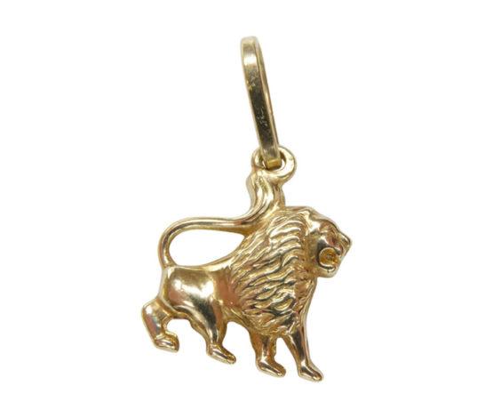 Gouden leeuw hanger