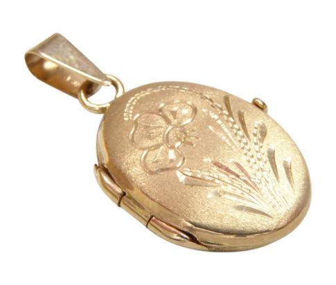 Gouden medaillon hanger