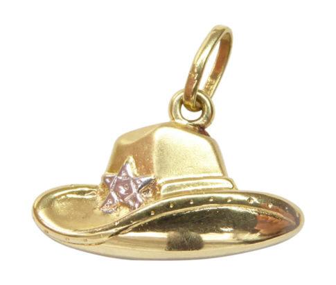 Gouden sheriff hoed hanger