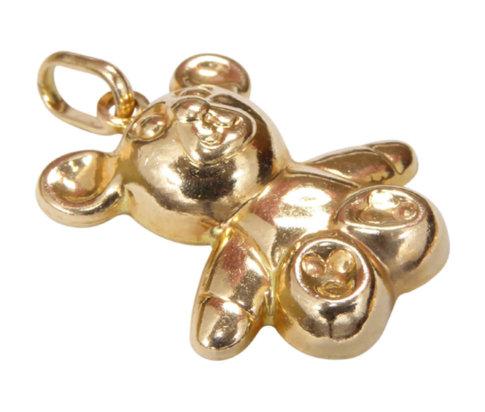 Gouden teddybeer hanger