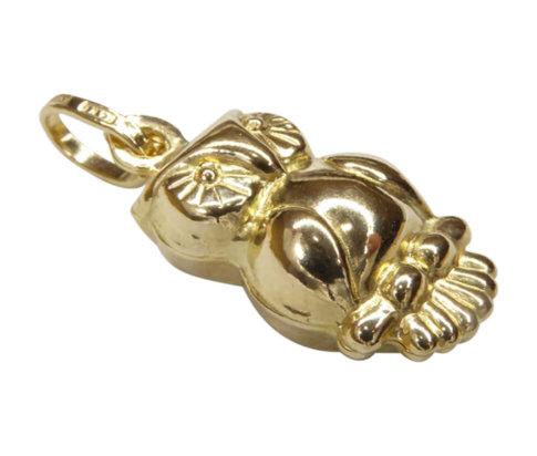 Gouden uil hanger