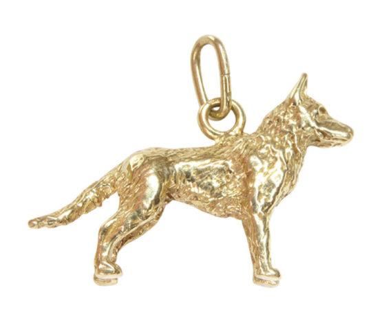 Gouden waakhond hanger