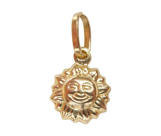 Gouden zon hanger