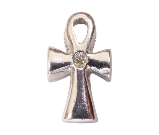 Wit gouden Egyptische kruis hanger