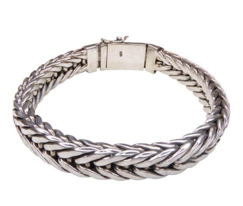 Zilveren Christian armband