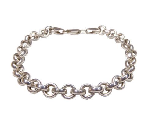 Zilveren Christian armband met losse schakels