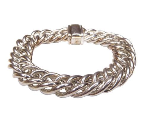 Zilveren Christian gourmette armband