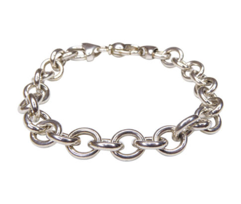 Zilveren jasseron armband