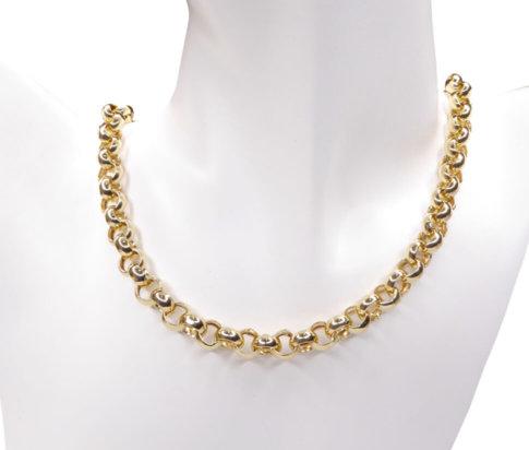 14 karaat geel gouden jasseron collier