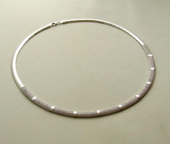 14 karaat wit gouden zirkonia collier