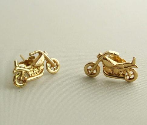 Gouden motor oorbellen