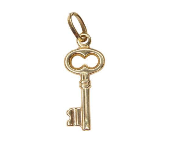 Gouden sleutel hanger