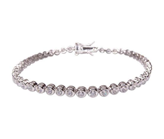 Zilveren zirkonia armband