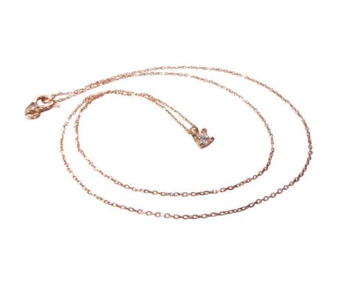 14 karaat rose gouden ketting met hanger button