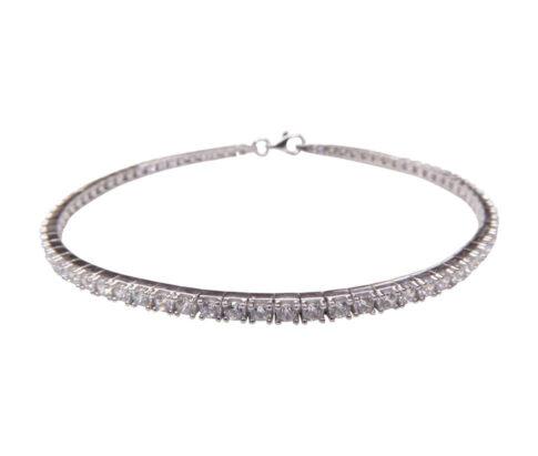 14 karaats gouden armband met zirkonia