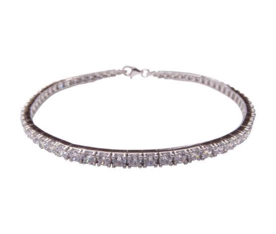 14 karaats gouden armband met zirkonia wit