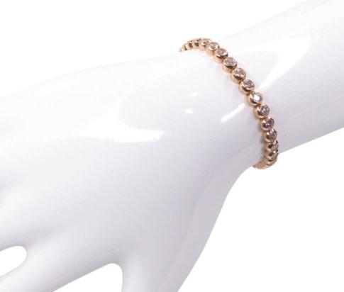 14 karaats gouden rosé tennisarmband met zirkonia