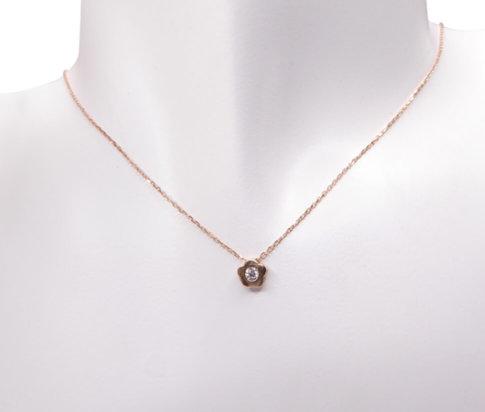 14 karaat rose gouden ketting met hanger ster