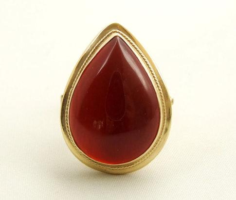 Gouden agaat ring