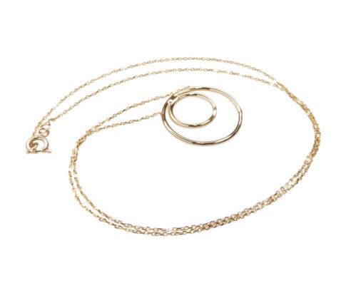 Gouden ketting met cirkel hanger