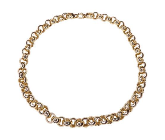 Jasseron geel gouden collier