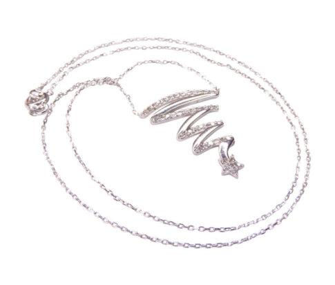 Wit gouden ketting met ster hanger