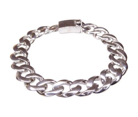 Zilveren armband met gourmette