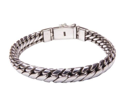 Zilveren armband met half rond