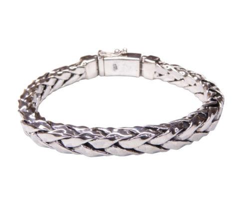 Zilveren armband met vierkant geweven