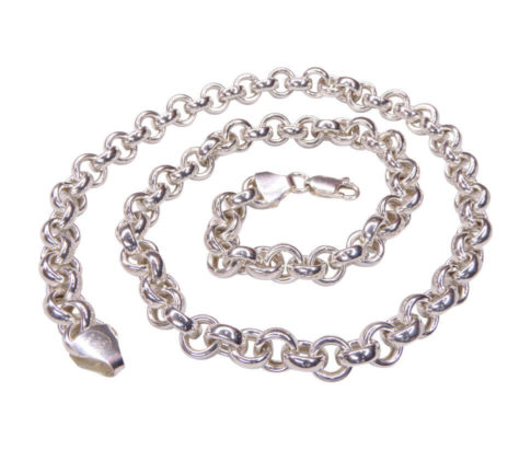 Christian zilveren jasseron collier