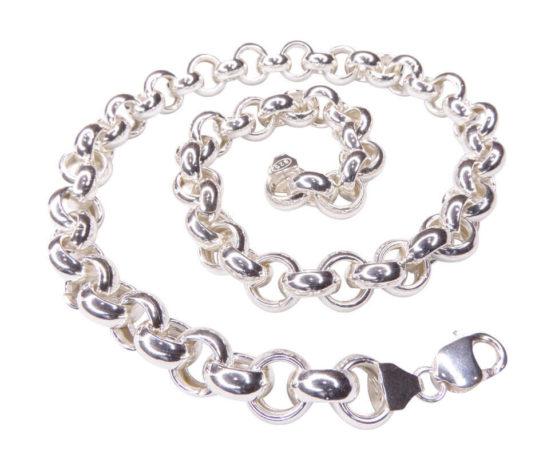 Zilveren jasseron collier