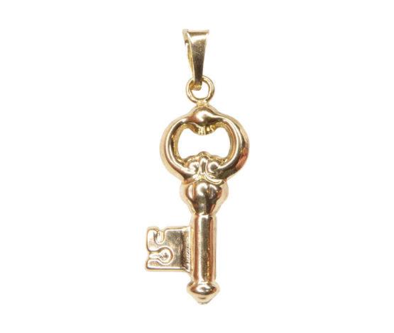 14 karaats gouden sleutel hanger