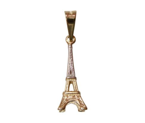 Bicolor gouden Parijs hanger