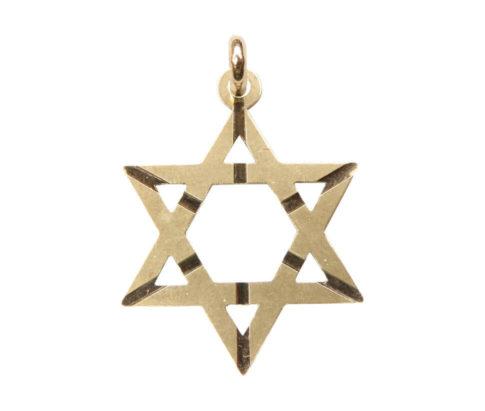 Geel gouden David ster hanger