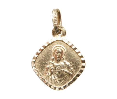 Geel gouden Christus hanger