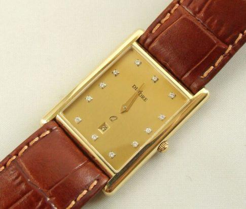 Gouden Diadore horloge